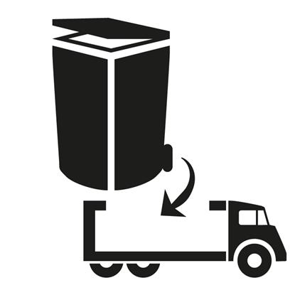 Afbeeldingen van Ophaling   Volle container [240 l.]